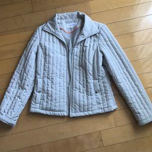 Beige calvin Klein puffer jacket